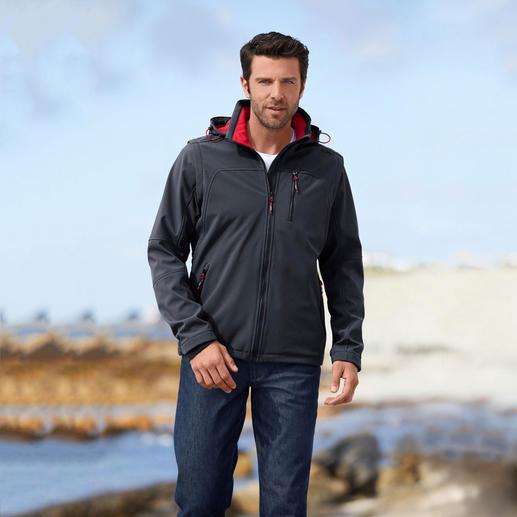 Veste en softshell, homme Élancée, légère et pourtant bien chaude. Veste en softshell, avec WindProtect®.