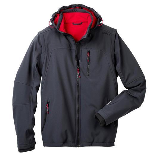 Veste en softshell, homme, gris Élancée, légère et pourtant bien chaude. Veste en softshell, avec WindProtect®.