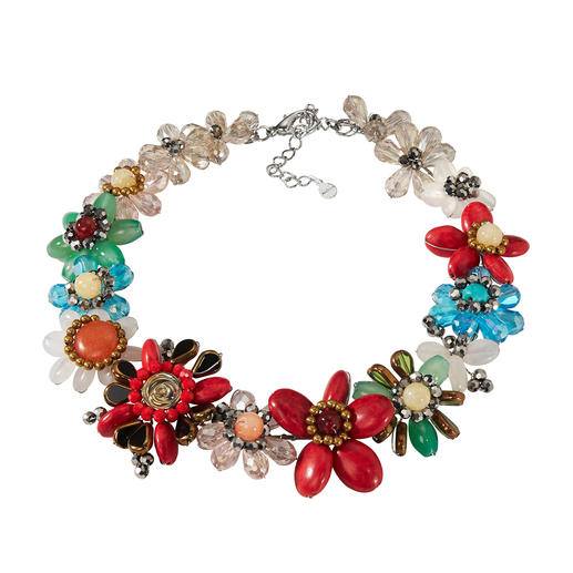 Collier tendance Smitten, Multicolore Fabrication main complexe à partir de perles : le collier de qualité et élégant. Par Smitten.