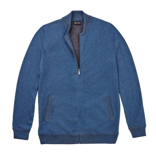 Cardigan en coton Pima Aussi tendance qu'un blouson. Mais beaucoup plus confortable. Le cardigan en coton Pima péruvien.