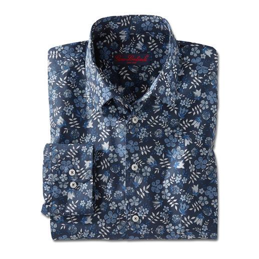 Chemise Tana-Lawn Liberty™, Bleu foncé/Blanc/Bleu/Gris La chemise florale de gentleman. Tendance chez les autres. Chez Liberty™, une tradition depuis plus de 140 ans.