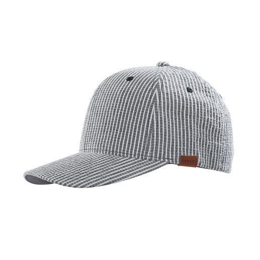 Casquette seersucker Kangol Crêpée et non pas lisse. Cela la rend beaucoup plus aérée que les casquettes en coton habituelles.