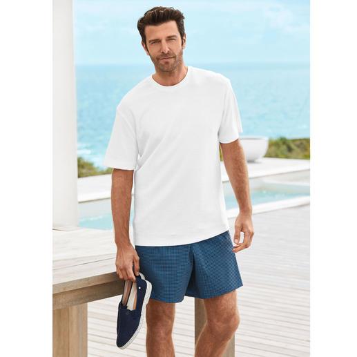 T-shirt en éponge Sunspel Shirt fonctionnel et stylé à la fois : le précieux T-shirt en rare tissu éponge. De Sunspel/Angleterre.