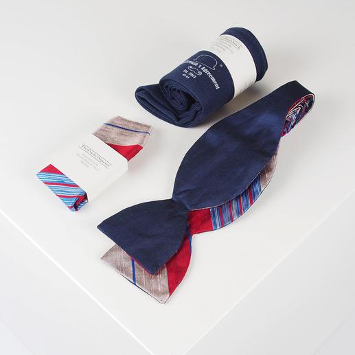 Boîte d'accessoires Gentleman's Agreement La combinaison polyvalente du nœud papillon, des chaussettes et du mouchoir. De Gentleman's Agreement.