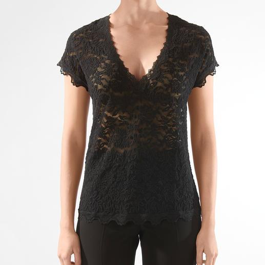 Chemisier dentelle Rosemunde Copenhagen Aussi aisé d'entretien qu'un T-shirt, aussi élégant qu'une blouse. De Rosemunde Copenhague.