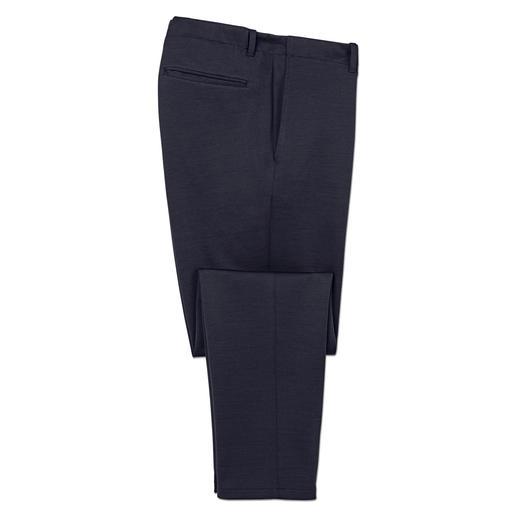 Élégant comme un pantalon en tissu. Confortable comme un pantalon détente. Élégant comme un pantalon en tissu. Confortable comme un pantalon détente. De Hiltl/Allemagne.