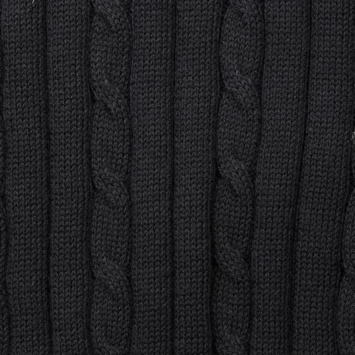 Polo tressé en coton Pima Carbery Coton pima de qualité. Motif tressé sportif. Coupe féminine cintrée. Du tricoteur irlandais Carbery.