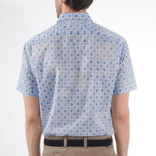 Chemise à manches courtes Ingram Votre chemise à manches courtes la plus rafraîchissante est faite de tissu de mousseline rare. Par Ingram.