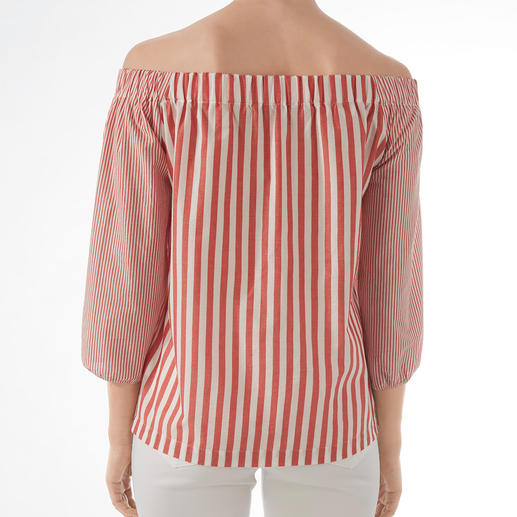 Blouse Carmen 2XM Notre conseil d'initié pour les blouses haute couture : le nouveau label allemand 2XM. Ici difficile à trouver.