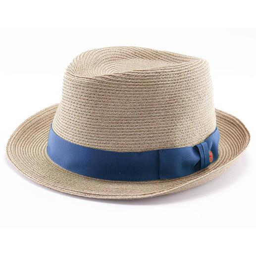 Trilby en chanvre Mayser Enfin un chapeau estival qui peut voyager ! Froissable et quasi indestructible. Signé Mayser, depuis 1800.
