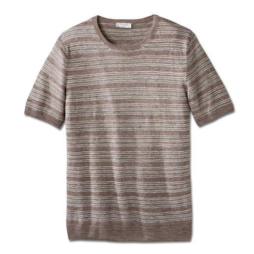 Chemise en lin Gran Sasso Si confortable à porter – et pourtant si difficile à trouver : la précieuse chemise en lin tricoté.