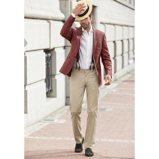 Veste estivale Tawny Cerruti Fini les vestes d'affaires ennuyeuses. Tissu estival noble Cerruti. Confection façon tailleur.