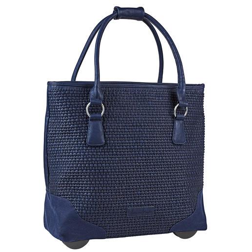 Sac à roulette Fritzi aus Preußen, Bleu nuit Toujours élégant. Suffisamment grand. Jamais trop lourd. Le Shopper-Bag XL avec fonction trolley dissimulée.