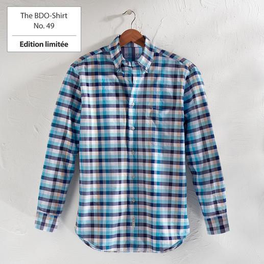 The BDO-Shirt No.49, à carreaux Redécouvrez une bonne vieille sensation de confort. Et oubliez qu'une chemise doit être repassée.