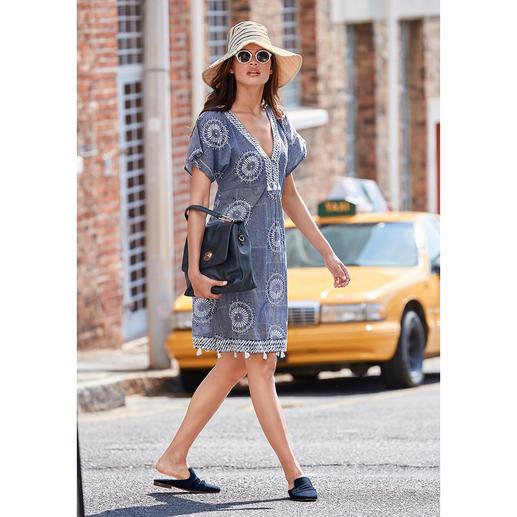 Robe ethnique brodée LulaSoul Broderie artistique au lieu d'imprimés criards : l'élégante robe ethnique du label tendance LulaSoul.