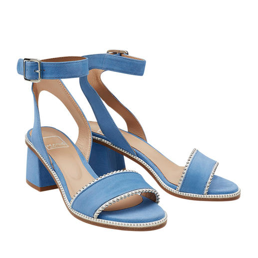 Sandale avec brides cheville MA&LÒ Sandales à brides tendance avec rivets : hauteur confortable, très discrètes, à un prix abordable. Par MA&LÒ.