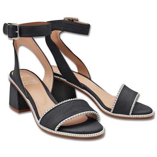 Sandale avec brides cheville MA&LÒ, Noir Sandales à brides tendance avec rivets : hauteur confortable, très discrètes, à un prix abordable. Par MA&LÒ.