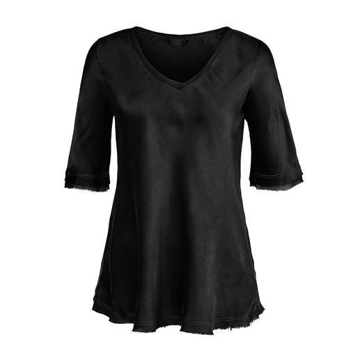 Chemise en soie SevenDayWonder Ni trop élégante ni trop sportive : la chemise « toujours correcte » en soie de mûrier souple et délicate.