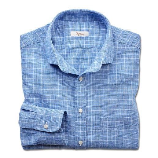 Chemise en lin chiné Ingram Un partenaire polyvalent pour les affaires et les loisirs : la chemise au motif à carreaux classique.
