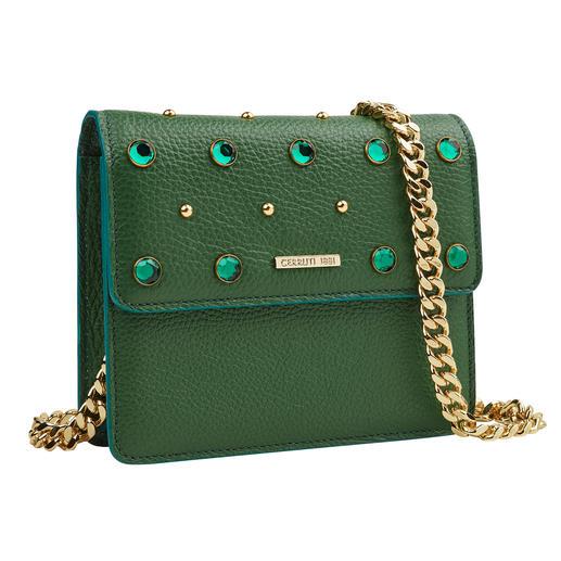 Mini Bag vert Cerruti 18CRR81 Très élégant malgré la couleur verte tendance : le Mini Bag de 18CRR81 Cerruti. Fabriqué en Italie.