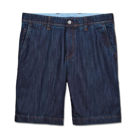 Bermuda en denim Coolmax Eurex by Brax Aspect denim et confort climatique du Coolmax®. Le bermuda doublement aéré d'Eurex by Brax.