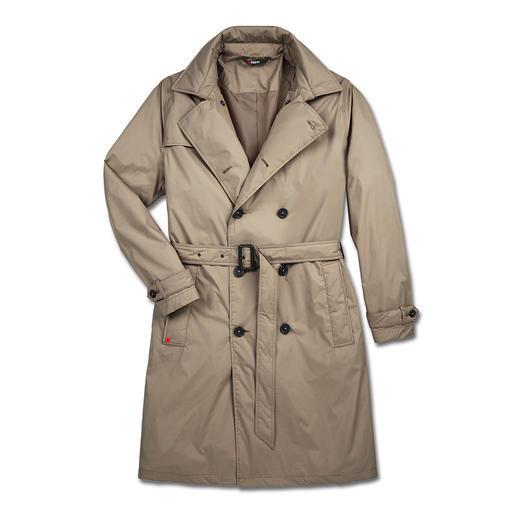 Un vêtement fonctionnel est rarement aussi élégant : le trench-coat par le spécialiste des intempéries, Knirps®. Déperlant et respirant. Transportable et ultra léger. Lavable et au séchage rapide.