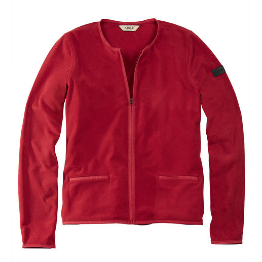 Veste couture Polartec® Aigle D'une élégance rare : la veste en micro-polaire Polartec® au style couture. Par Aigle.