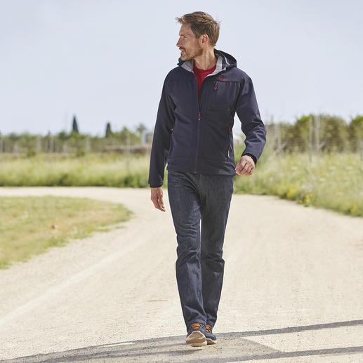 Veste en softshell, homme Élancée, légère et pourtant bien chaude. Veste en softshell, avec WindProtect® de CMP.