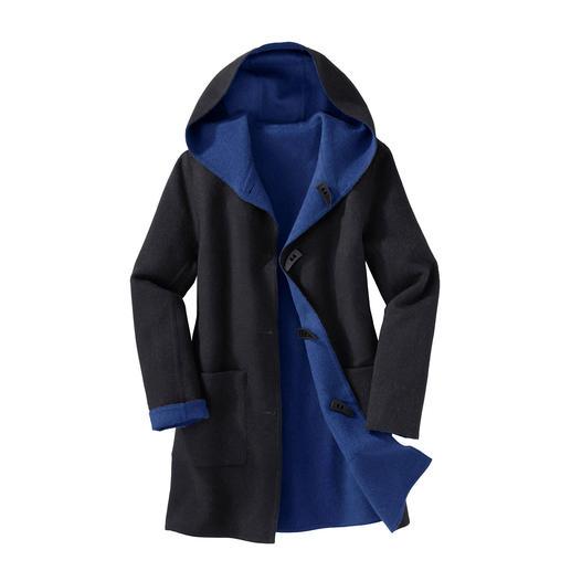 Duffle-coat double-face en alpaga Le duffle-coat classique. Mais moderne, doux et léger. Et même réversible. Tissé en laine et bébé alpaga.