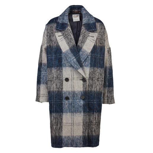 Manteau Gloverall pour femme Tendance et tradition parfaitement combinées. Le manteau de laine à carreaux surdimensionné en mohair douillet.