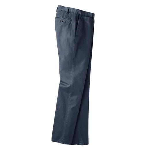 Pantalon en flanelle panama Hiltl Armure toile rare, avec finition diamantée. Par le spécialiste du pantalon Hiltl, Allemagne.