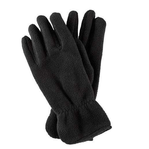 Gants en polaire Loevenich Polaire chauffante Polartec® – confectionnée comme des gants en cuir fin.