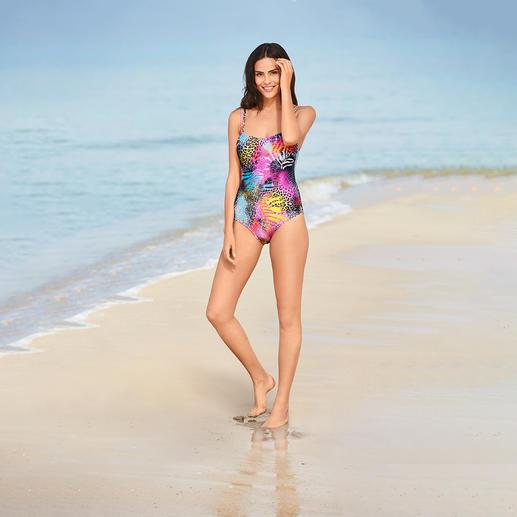 Maillot de bain SunSelect® Pink Animal Un maillot de bain à l'effet d'une bonne crème solaire. En SunSelect® qui laisse passer les rayons du soleil.