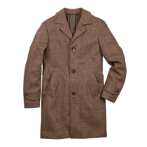 Manteau en mouton Jacob Article tendance à valeur de rareté : le manteau prince-de-galles en laine tachetée non colorée.