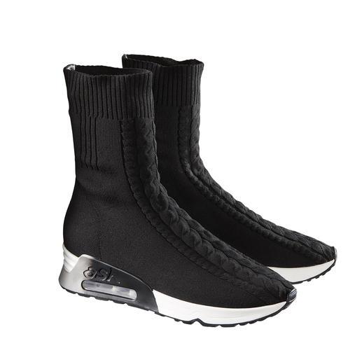 Sneakerboots en tricot tressé Ash 100 % tendance. 100 % hivernales : les bottes en tricot tressé par Ash.