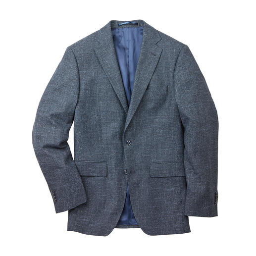 Veston d'affaire aspect denim Kastell Le look décontracté du denim. Le sérieux d'une veste d'affaires. Correct et décontracté à la fois.
