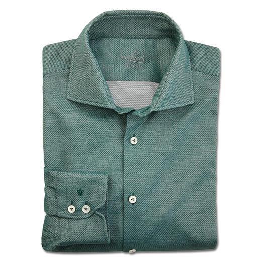 Chemise d'affaires en flanelle van Laack Col requin classique. Beau motif à chevrons. Flanelle légère adaptée sous une veste.