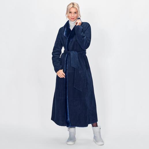 Manteau réversible en peau d'agneau Wunderfell Aujourd'hui un manteau en fausse fourrure tendance, demain un classique intemporel en peau d'agneau.