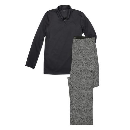 Pyjama gentleman Novila Le pyjama pour gentleman : haut confortable + pantalon en interlock coton mercerisé. Par Novila.