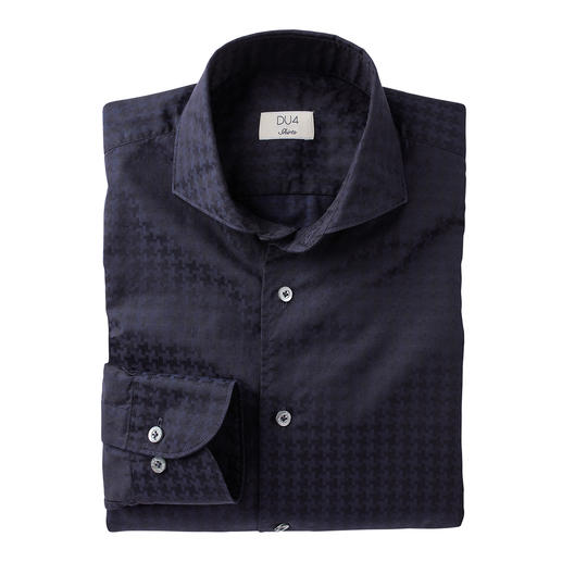 Chemise au motif pied-de-poule Dufour Grands motifs tendance – et pourtant pas trop criards. L'utilisation stylée du motif XL tendance.