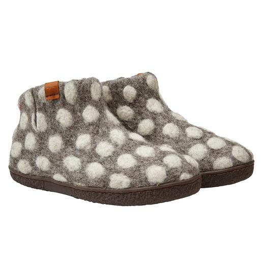 Pantoufles en feutre Green Comfort Feutrées et faites à la main : les pantoufles en feutre de laine Green Comfort. Slow Fashion du Népal.