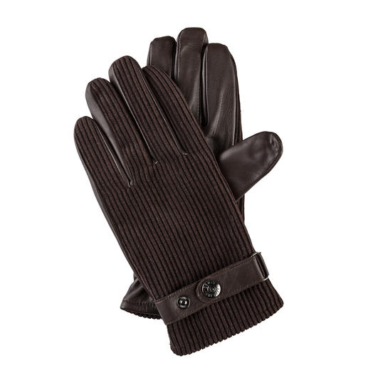 Gants en velours côtelé Dents Le velours côtelé désormais à nouveau tendance. La qualité haut de gamme des gants. De Dents.