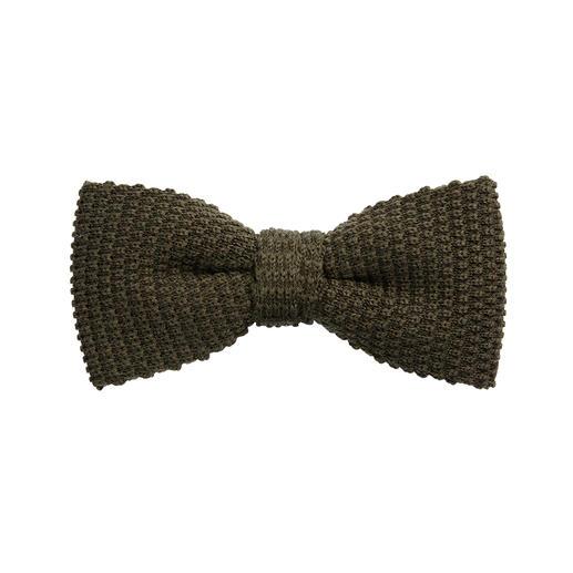 Nœud papillon en tricot Blick Pure laine au bel aspect texturé, maille volumineuse tricotée en rond. Noué à la main.
