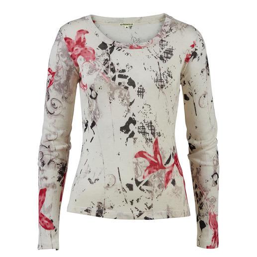Pullover floral à jauge 30 Pashma Rares sont les pullovers à motifs tendance aussi luxueux (et néanmoins abordables).