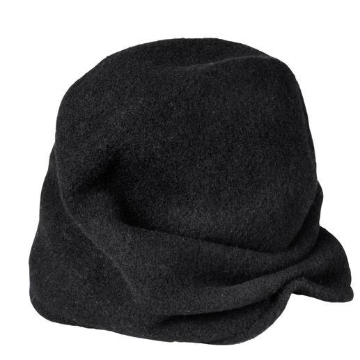 Bonnet à double variante Loevenich 1 bonnet – 2 looks : beanie décontracté ou turban tendance. Le multitalent du spécialiste Loevenich.