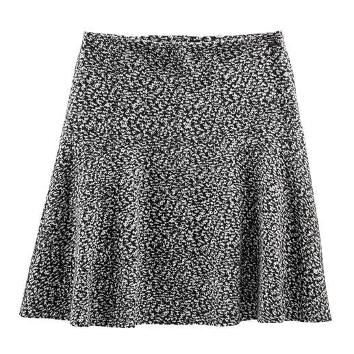 Jupe oscillante en jersey de coton Aspect Tweed nouveau et léger – en jersey de coton doux. Parfait pour une jupe à la forme oscillante actuelle.