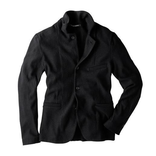 Veston en tricot Hannes Roether L'excellente tenue d'un véritable veston, la souplesse et le confort d'un gilet en tricot. De Hannes Roether.