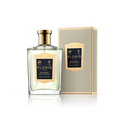 Eau de Toilette Bouquet de la Reine Floris, 100 ml Le parfum de mariage de la reine Victoria : somptueux et luxuriant tel un bouquet royal.
