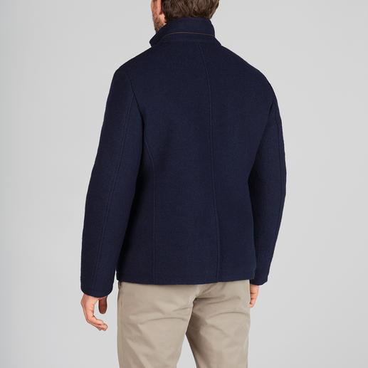 Veston en drap de laine foulée Steinbock®