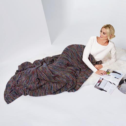 Plaid en tricot multicolore Kero Design Coloré sans être criard. D'une douceur incomparable. Et adapté à tous les espaces de vie.